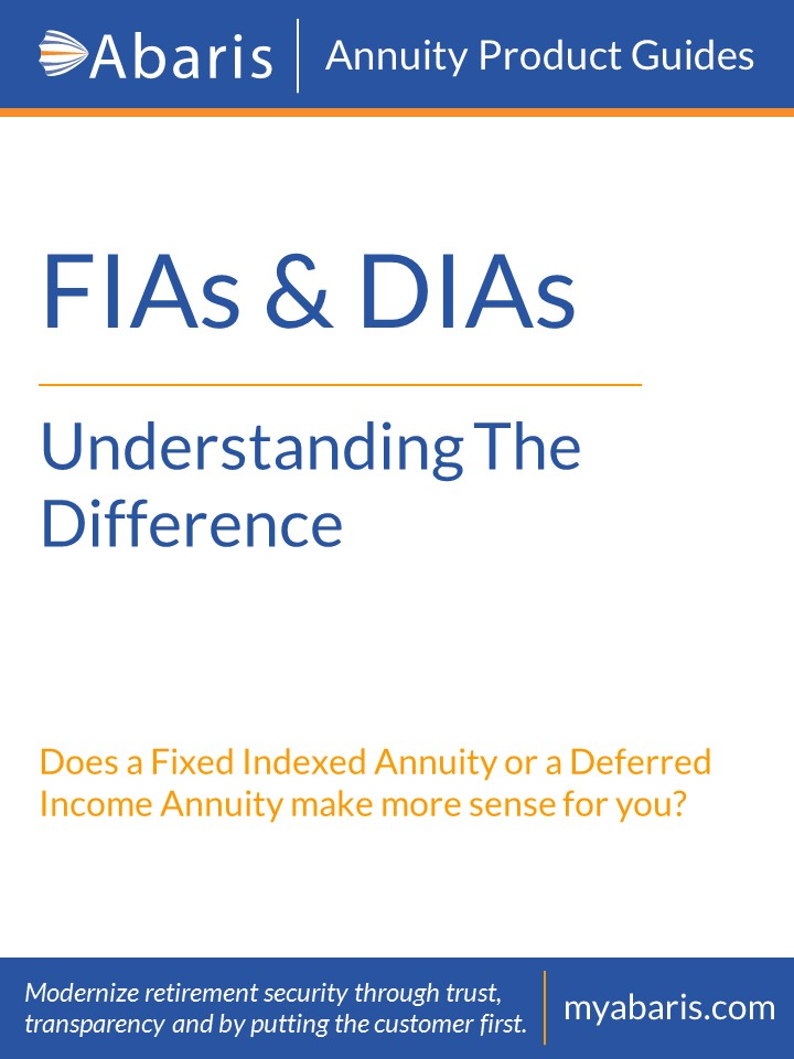 Blueprint Income comparing fixed indexed annuities FIAs and deferred income annuities DIAs